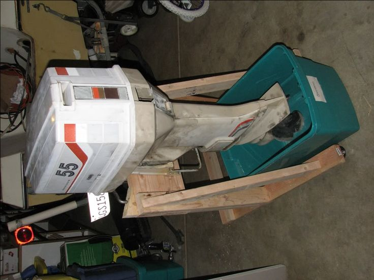 how to build an outboard engine stand