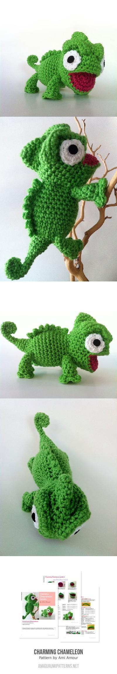 Charming Chameleon Found at Amigurumipatterns.net