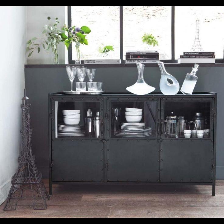 Dressoir industrieel zwart 3drs | Kasten | Giga meubel industrieel