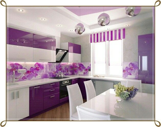 Purple Kitchen Decor, Kitchen Paint Colors, Color Paints, Kitchen Designs,  Kitchen Remodel, Budget, Classy, Cuisines, Colors