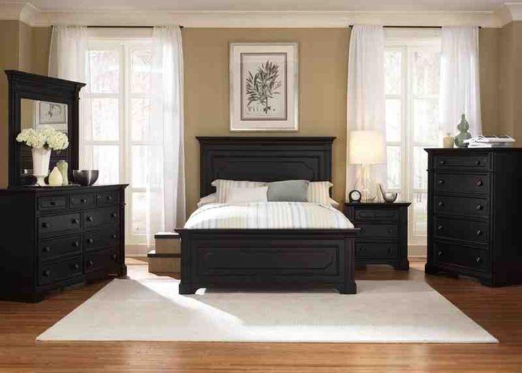 Fine Bedroom Decor Dark Furniture And Serene Master Bedroombeige