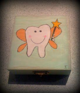 κουτί για τα πρώτα δοντάκια, toothfairy box