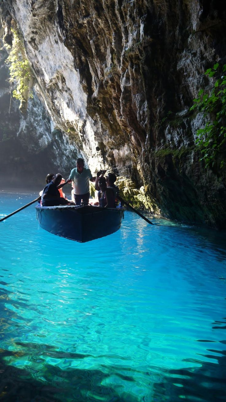 The Magnificent Lake in Melissani Cave, Greece