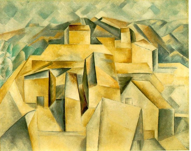 Picasso, Casas de la colina: Horta del Ebro (1909)
