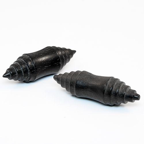 Wooden Black Organic Saddle Plugs - Pierce of Mind