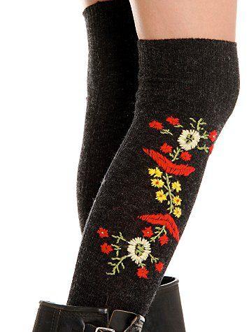hand knitted Polish Folk Socks