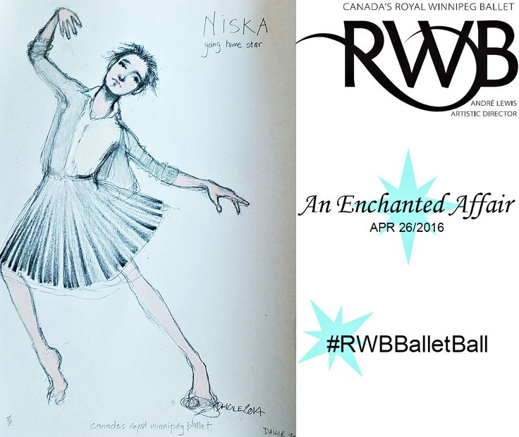 Enter to win a signed original costume sketch of Nisaka from Going Home Star at this years Ballet Ball #RWBBalletBall