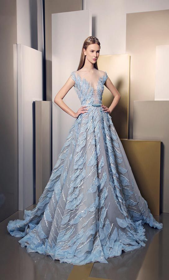 Best 25 ice blue dress ideas on pinterest slit dress for Ziad nakad wedding dresses prices