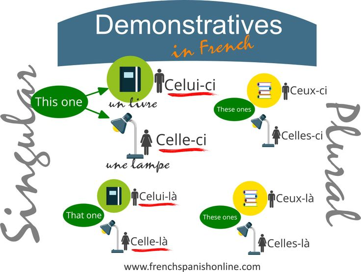 Demonstrative in French, This one, That one, the one that... http://goo.gl/qn0dyy