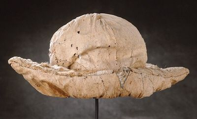 Courtesy of The Royal Armoury (http://emuseumplus.lsh.se/eMuseumPlus). Charles XII's (Karl XII's) otter-fur hat prevented a fatal blow from a Turkish sabre during the skirmish at Bender in 1713.