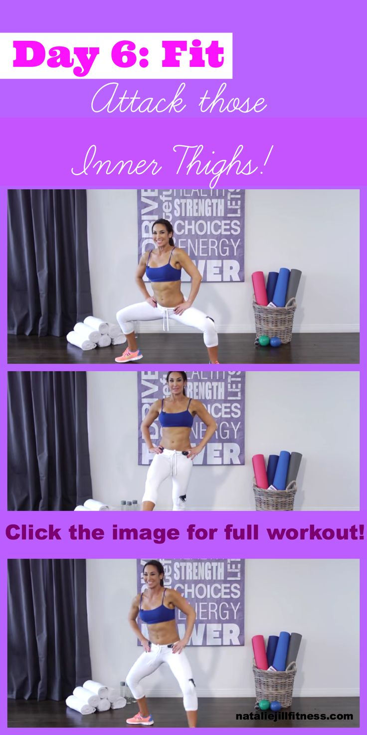 Day 6 FIT!! Bring it! Today's workout is for  INNER THIGHS! WHO is in? Click the image to view (and DO!) the entire workout. Repin if you are IN! OH- And of course comment below once you have done this and tell me how you feel!