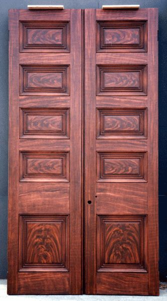 Jim Evinczik Faux Wood Grained these doors for Andrew Jackson\