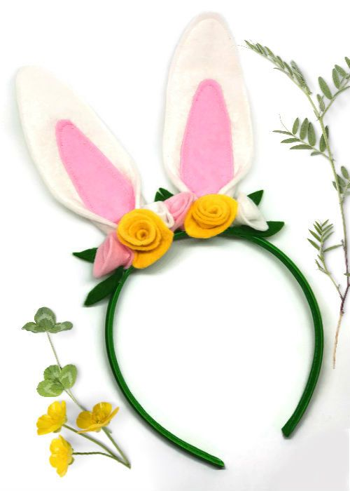 Be the cutest little bunny rabbit in town with this adorable rabbit hairband! This sweet headband is made from soft wool felt ears and flowers, securely attached to a pretty green satin hairband. This is so easy and comfortable to wear, and the perfect finishing touch to your Easter outfit or bunny costume. Ideal for a woodland animal party, or as a gift for a little animal lover! As these are made to order, please allow 10-14 days for production and dispatch.