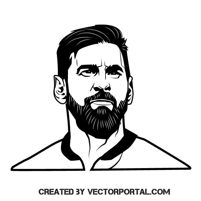 leo messi vector image messi drawing