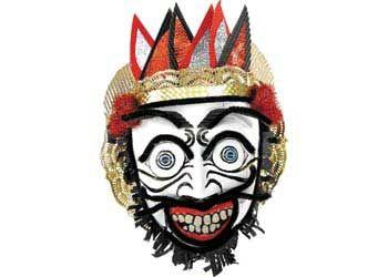 Papier Mache Indonesian Topeng Mask - for Halloween