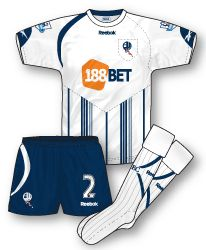 Bolton Wanderers home kit for 2009-10.