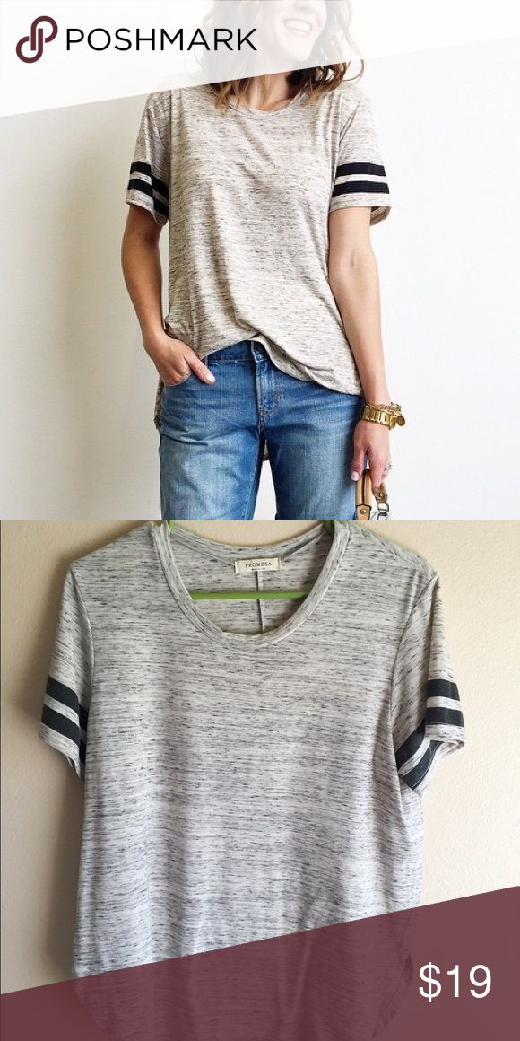 Track tee Only wore 2. Great condition. Roolee Boutique Tops Tees - Short Sleeve