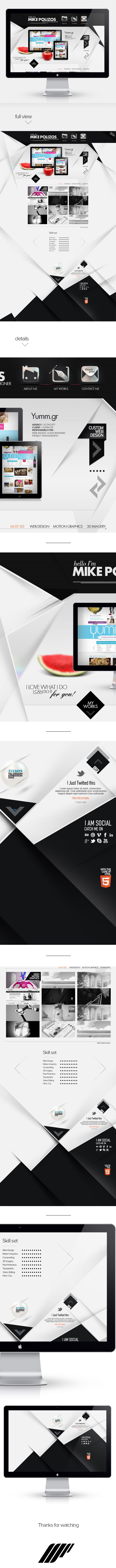 Personal Website Portfolio - First Approach by Mike Polizos, via Behance