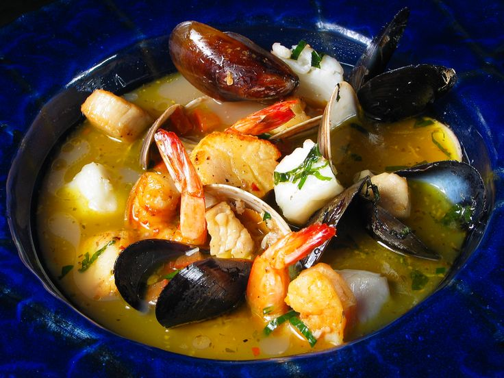 Fish soup brimming with Canadian seafood: http://gustotv.com/recipes/soups/fish-soup/