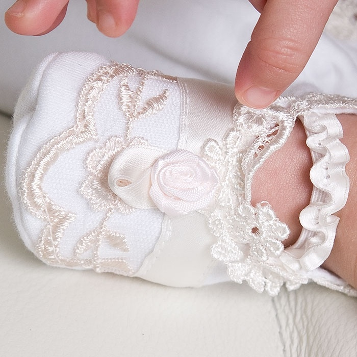 Baby Girl Lace Booties - Scarlett Christening & Baptism Collection #Babybeauandbelle