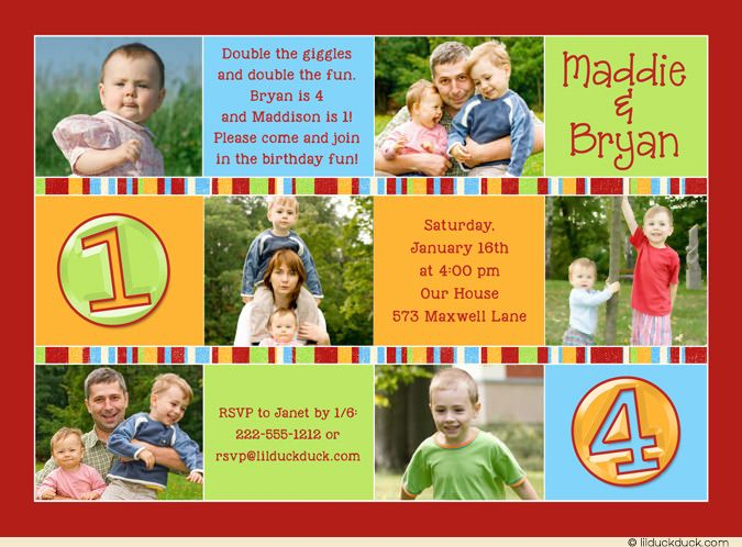 48 best Cute Twin Birthday Invitations images – Glee Birthday Card