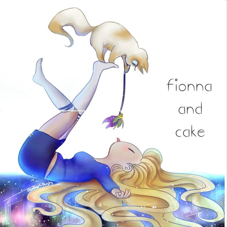 Fionna playing with Cake