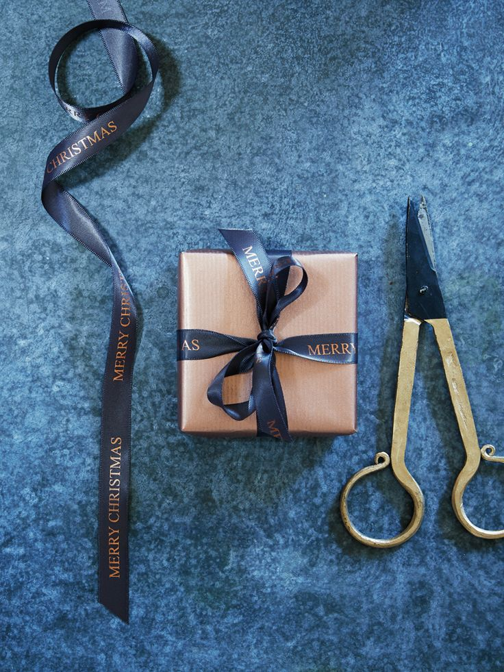 NEW Copper Merry Christmas Ribbon - Gift Wrapping - Christmas