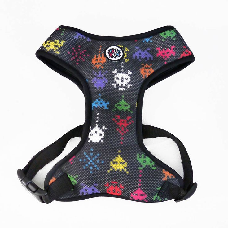 Dog Harness, Always Feeling Cool, Super Soft Psiakrew Invaders by PSIAKREW on Etsy