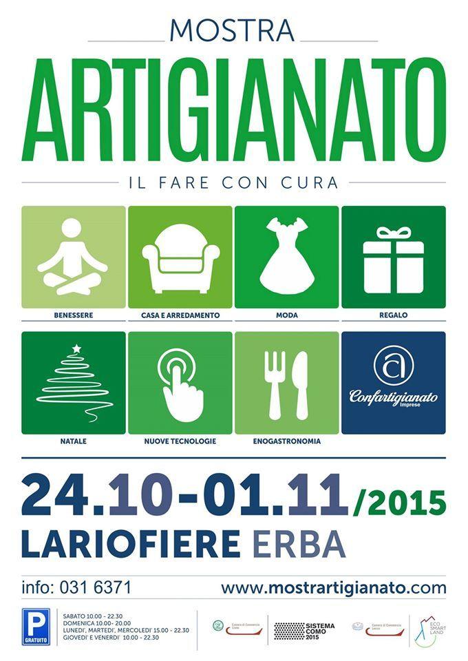 Mostra Artigianato di Erba dal 24 Ottobre al 1° Novembre 2015