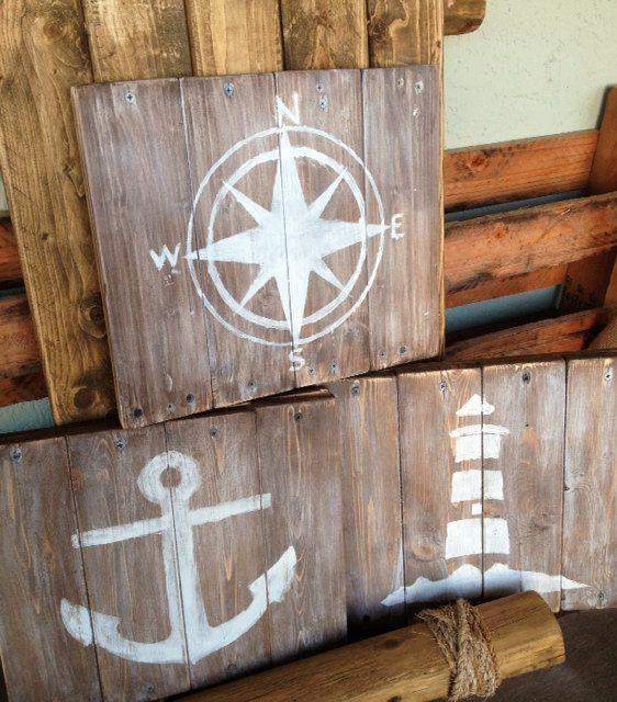 Nautical art for Nursery or Living area.