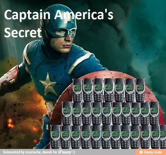 captain america nokia 3310 | captain america's secret! #nokia #3310 | ♥ Husband ♥ | Pinterest