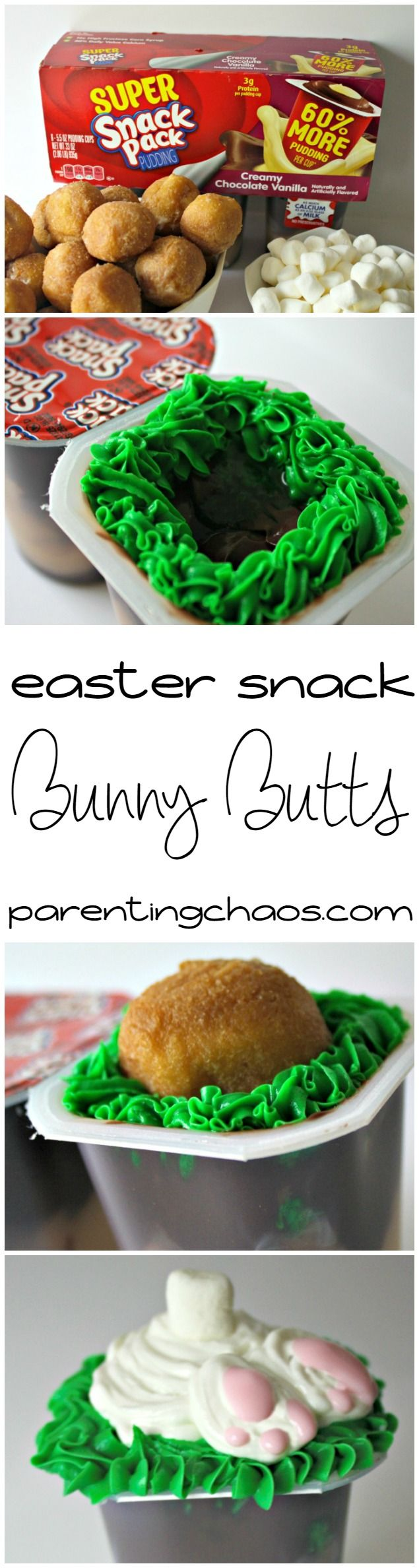 Bunny Butts Easter Snack! #SnackPackMixins #CollectiveBias #ad