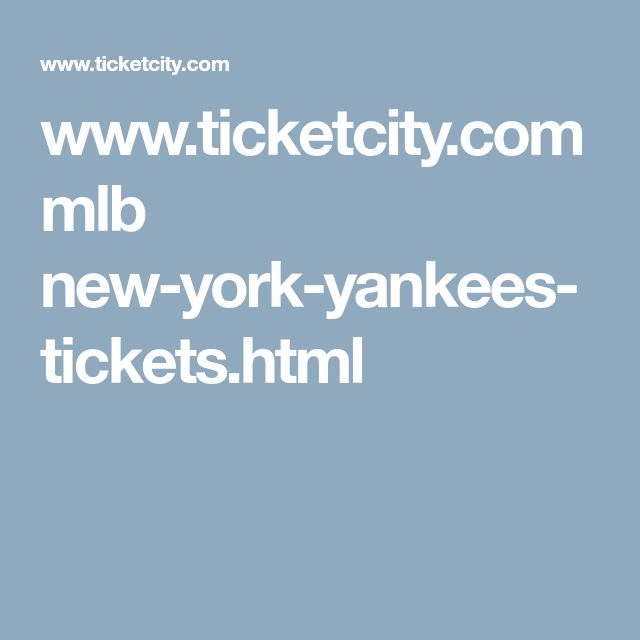 www.ticketcity.com mlb new-york-yankees-tickets.html