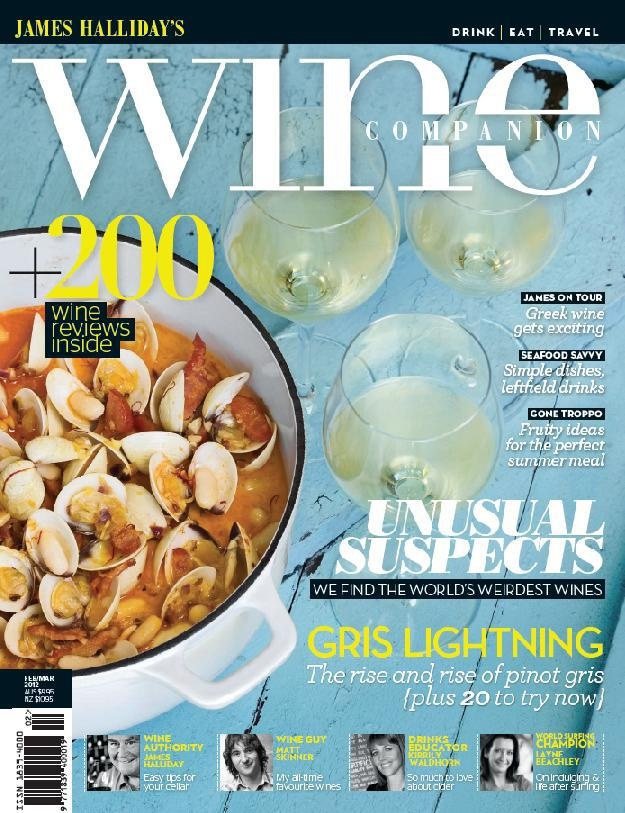 Issue 2 Feb/Mar 2012   The eclectic issue - we challenge the 'norm' in our striking second issue. Campbell finds the worlds weirdest wines in our 'unusual suspects' feature. As we hit the height of summer we look at the now fashionable white wine Pinot Gris and its very recent rise in popularity. Famed wine critic Matt Skinner reveals his all time favourite wines, we have a selection of perfect seafood recipes with exciting (read unusual) wine matches. James visits Greece and more