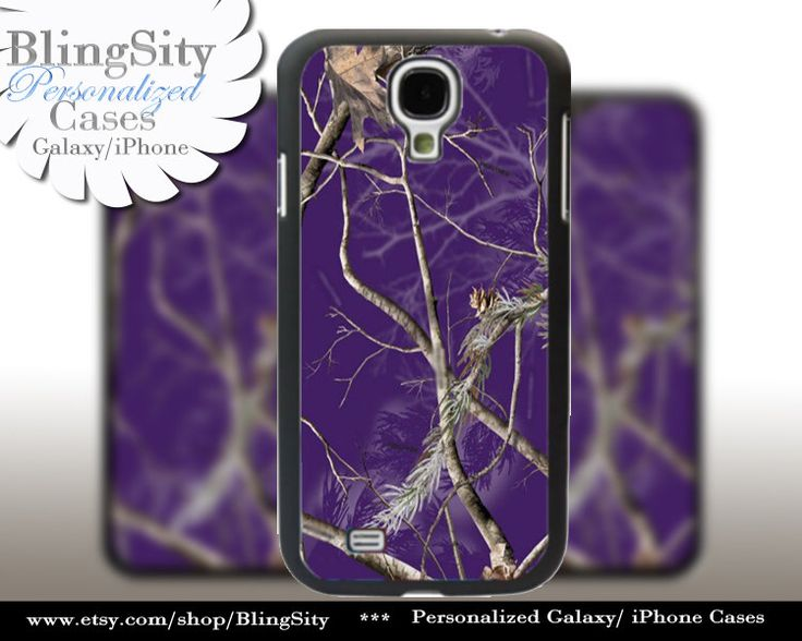 Purple Camo Monogram Galaxy S6 S4 case S5 Real Tree Camouflage Personalized Samsung Galaxy S3 Case Note 2 3 Cover Country Girl by BlingSity on Etsy https://www.etsy.com/listing/210639311/purple-camo-monogram-galaxy-s6-s4-case
