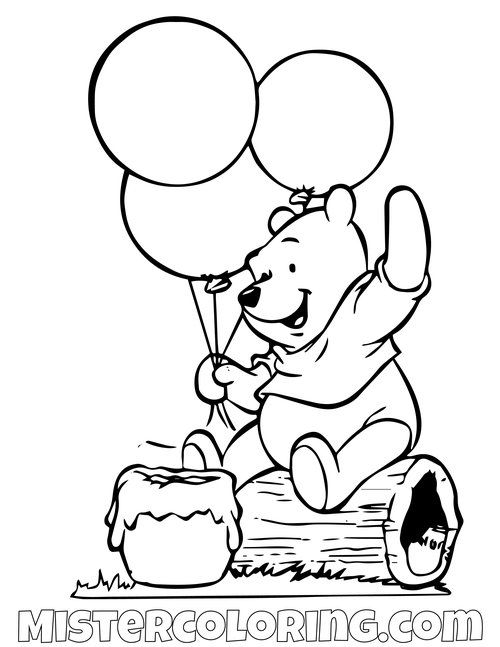 Winnie The Pooh Coloring Pages For Kids Mister Coloring In 2020 Disney Coloring Pages Cartoon Coloring Pages Coloring Books