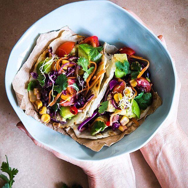 Vegan Black Bean Tacos via @feedfeed on https://thefeedfeed.com/vegan-tacos/dolcettiescherzetti/vegan-black-bean-tacos