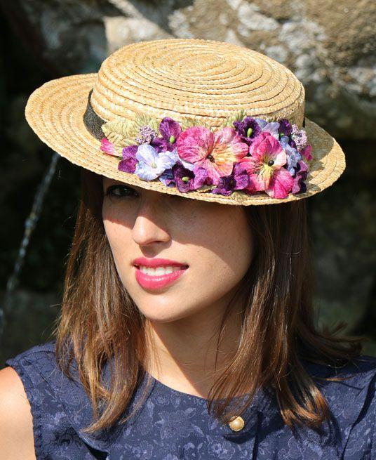 Canotier de flores Enriqueta