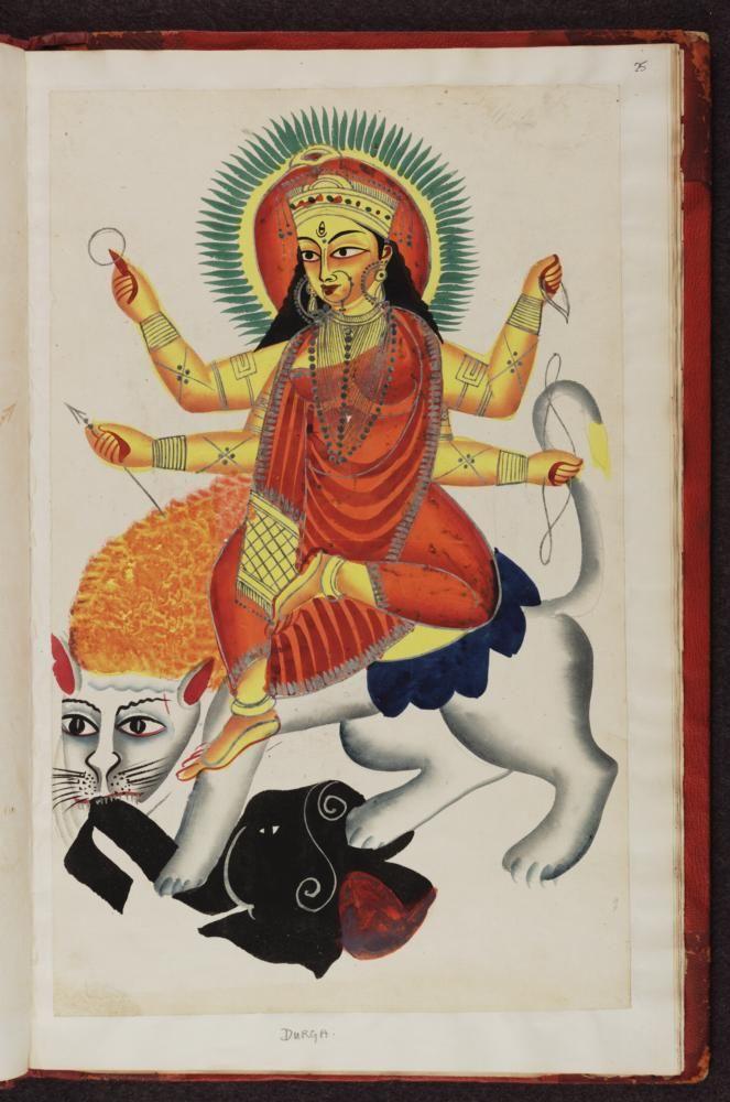 Durga. Kalighat (Calcutta, India), 1875