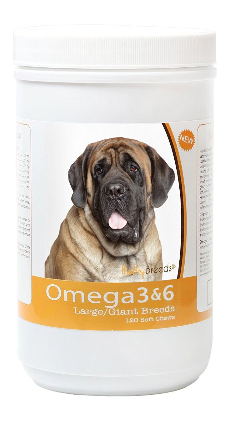 Healthy Breeds 3088-mast-001 Omega 3 and 6 Soft Chews for Mastiff, 120 Count * For more information, visit image link. (This is an affiliate link and I receive a commission for the sales)