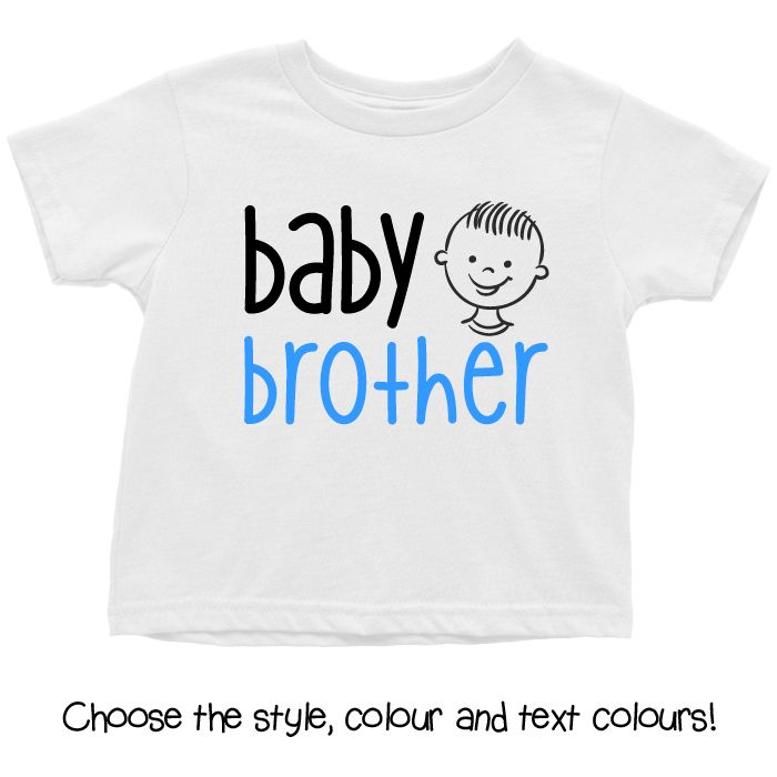 Baby Brother Cartoon Face Baby T Shirt, Hoodie or Onesie
