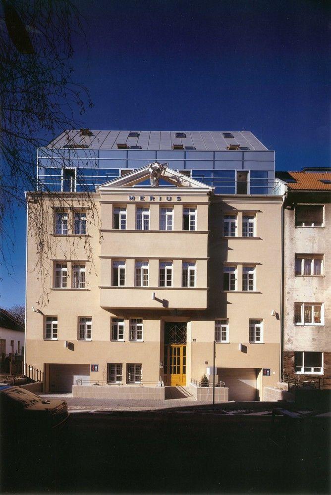 Office House Merius (adaptation of the old housing unit), Šoltésovej st., Juraj Hermann, Patrik Pavlásek, Helena Vojtková and Beáta Hermannová, 2000