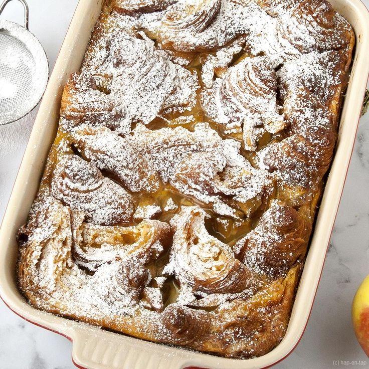 Deze wentelteefjes uit de oven met appel zijn megalekker: als ontbijt, bij de brunch of als vieruurtje, groot en klein gaan hier dol op zijn!