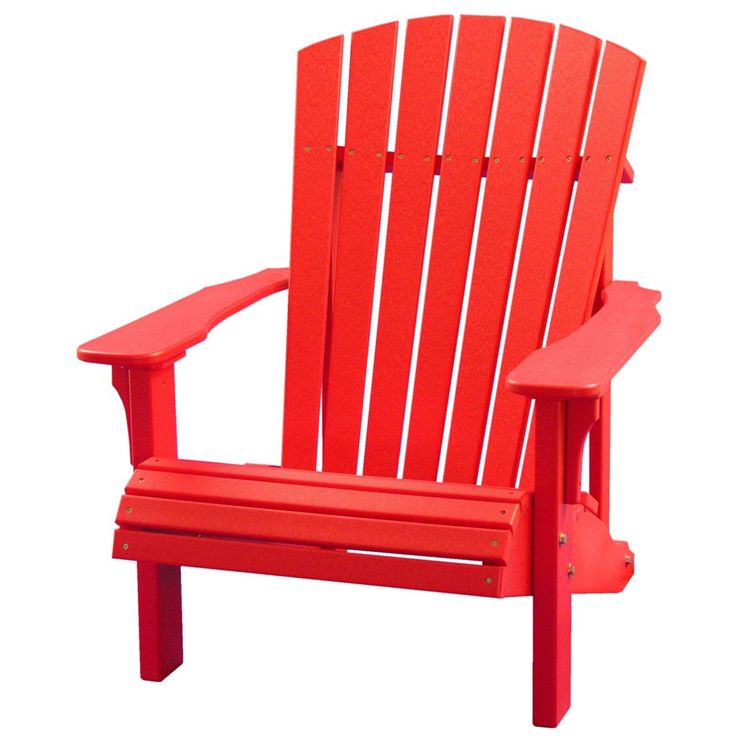 Amish Deluxe Polywood Adirondack Chair - Adirondack Chairs - Patio Chairs - Patio Furniture