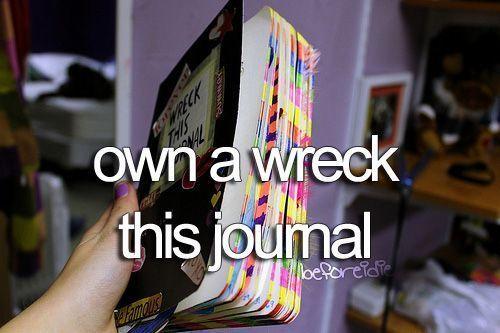 Own a Wreck this Journal   Summer Fun Ideas for Teens Bucket Lists