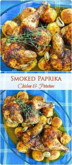 Smoked Paprika Chick Smoked Paprika Chicken and Potatoes  In...  Smoked Paprika Chick Smoked Paprika Chicken and Potatoes  In about 90 minutes you can serve this amazing comfort food meal of succulent roasted smoked paprika chicken with thyme on a bed of crispy roasted potatoes. Recipe : http://ift.tt/1hGiZgA And @ItsNutella  http://ift.tt/2v8iUYW