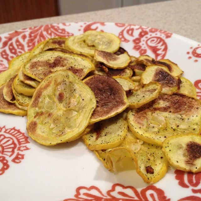 Carman's mom gave me lots of yellow squash from her garden!! Yummmm!!! I've been dying to try this veggie idea that I saw on Pinterest a while back, so this was the perfect opportunity! :) Source: ...