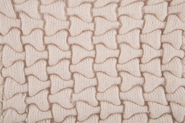 Knitting I Samples - Could it be modified to look like a dog bone pattern?