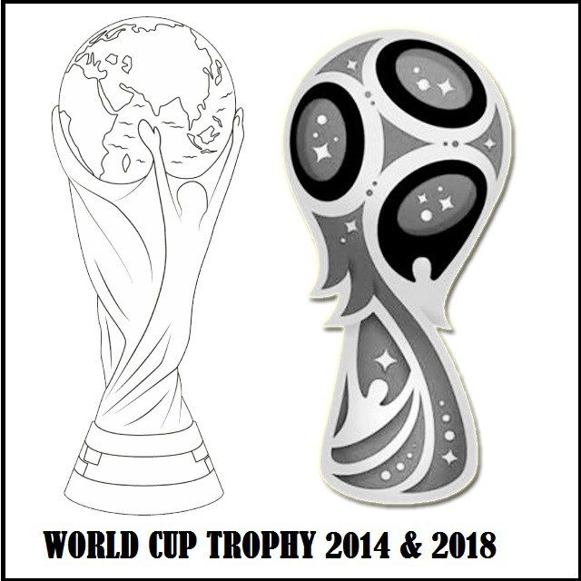 Wolrd Cup Trophy 2014 And 2018 Coloring Page Sports Coloring Pages World Cup Trophy Coloring Pages