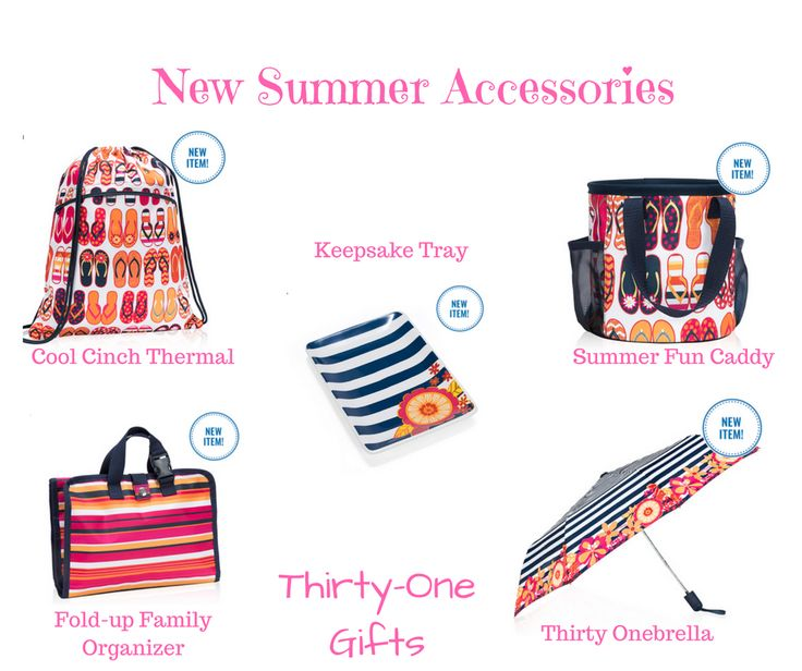 Thirty-One accessories from the summer style guide